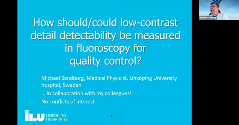 Dr Michael Sandborg – How should low-contrast detectability be measured in fluoroscopy for quality control
